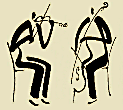 string duo drawing